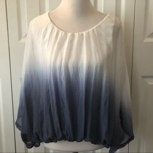 100Pct Silk, Lined Dolman Sleeve Blouse by Giulia